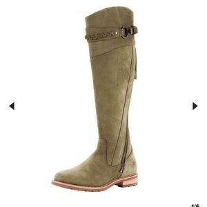 Ariat Alora Knee High Olive Green Boots